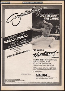 BLOODSPORT-Original-1988-Trade-AD-poster-JEAN-CLAUDE-VAN-DAMME-First-11-days