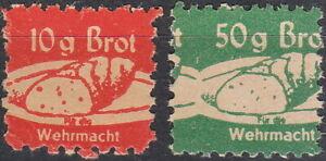 SALE Stamp Germany Revenue WWII Fascism War Era Wehrmacht Bread Pair 2 MNG