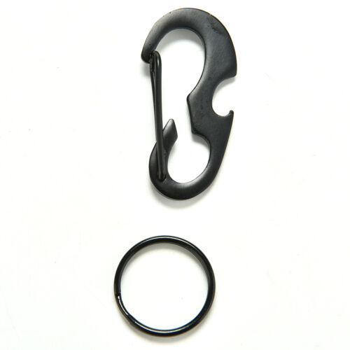 Hot 1x D-ring carabiner bottle opener quickdraw EDC keyring survival tool Small,