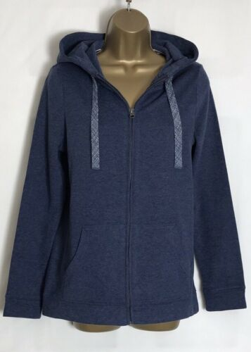 n-39s Next Blue Cotton Blend Brushed Jersey Hooded Sweat Jacket Size 10