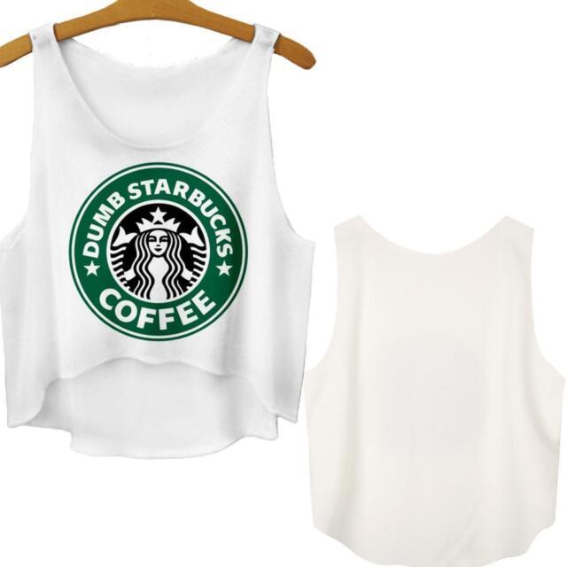 Sexy Summer Casual Women Emoji Cookie Tank Top T Shirt Blouse Cartoon Crop Vest