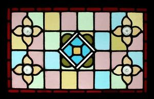 Stained Glass Windows Smart Pretty Victorian Engish Stained Glass Window Adorned With Faceted Rondels Beautiful In Colour Antiques