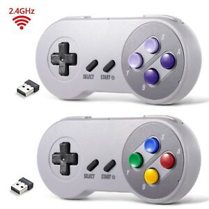Lot-1-2-USB-Wireless-SNES-Controller-Gamepad-amp-Receiver-for-PC-MAC-Raspberry-Pi