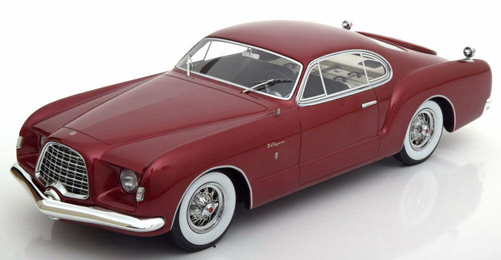 1953 Chrysler D Elegance Dark Red Metallic by BoS Models LE of 1000 1/18 Scale