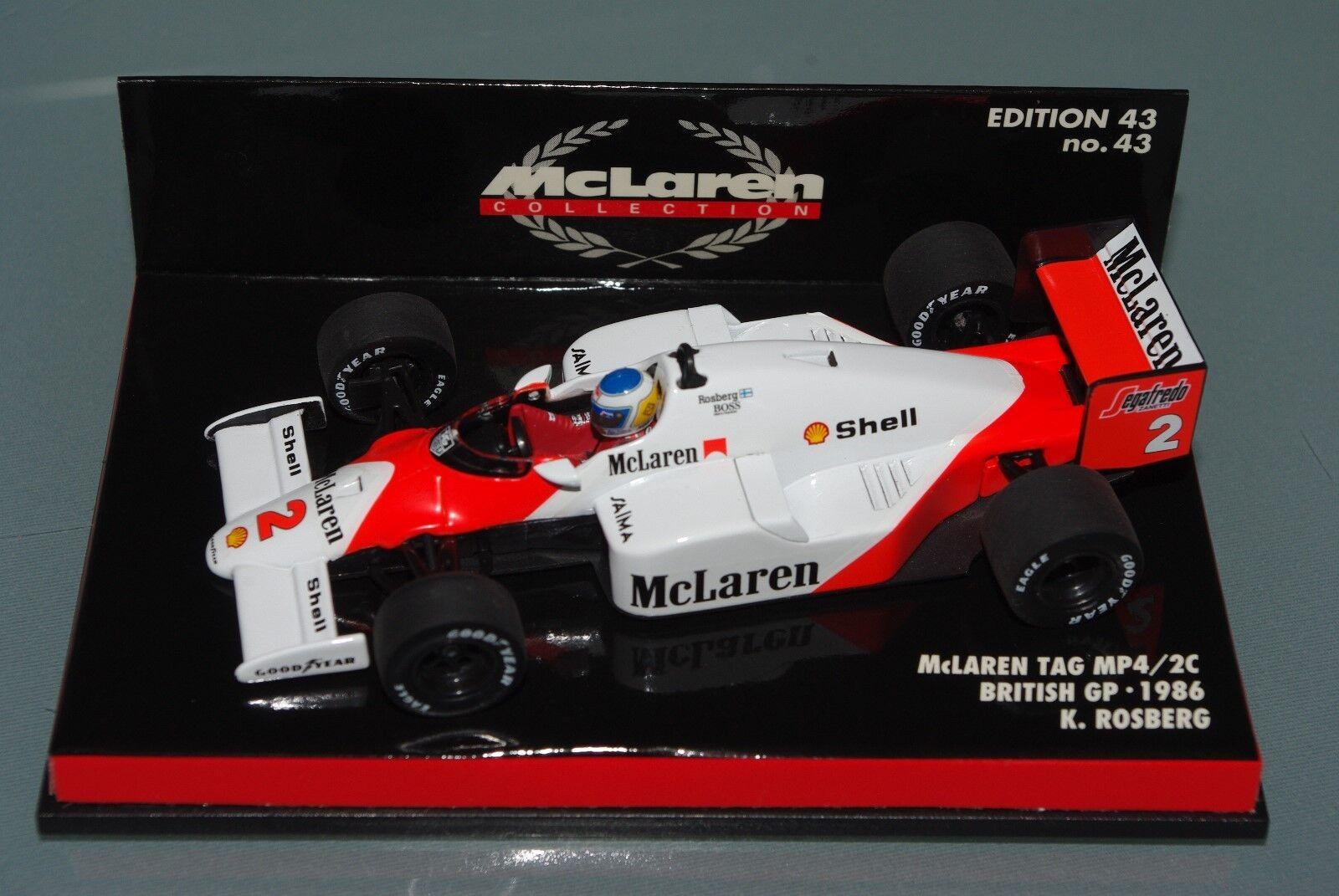 Minichamps F1 1 43 McLaren Tag MP4 2C - British GP 1986-Keke Rosberg
