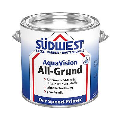 SÜdwest Aquavision All-grund 2,5 L Korrosionsschutz Sehr Schnelle Trocknung