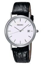 Seiko Men's Classic Black Leather Strap Watch - SKK693P1. New In Box. 079.