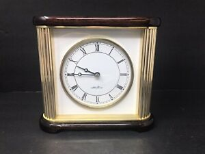Seth-Thomas-Mahogany-Wood-and-Brass-Desk-Mantle-Mantel-Clock-Very-Nice