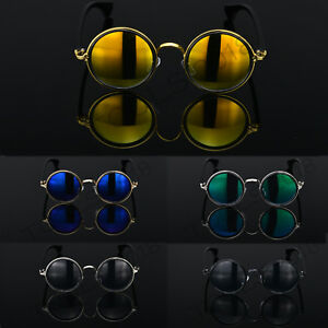 7d12aee1e Image is loading Round-Metal-Rim-Fashion-Vintage-Polarized-Sunglasses- Glasses-