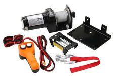 2000 LB  WINCH ELECTRIC 12V WITH MOUNTING PLATE TRAILER PLOW BOAT TRUCK NEW