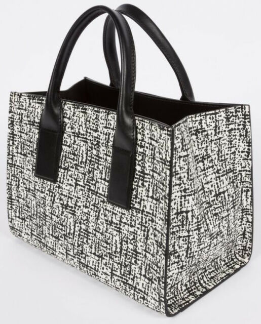 Paul Smith Women s Black   White Etching Print Leather Tote Bag Retail £1020 70f517e1648b4