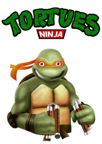 Kids Teens At Home Sticker Autocollant Poster A4 Dessin Anime Tortue Ninja Mutant Michelangelo N 3 Home Garden Gefradis Fr