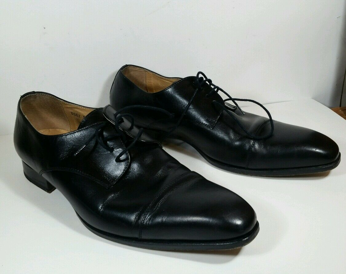 John Oxfords Mac Gray Black Cap Toe Oxfords John Sz 10 Great Condition 046443