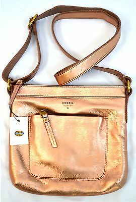 $128NWT Fossil SHB1068 MIMI Leather Cross body Shoulder Bag Authentic