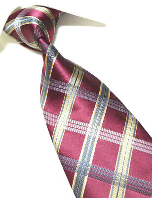Extra Long Tie Gold//Chocolate XL Men/'s Microfibe Necktie Woven Jacquard  PL406