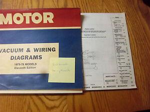 1975 1976 ford granada mercury monarch electrical wiring diagram rh ebay com ford granada 2.9 wiring diagram ford granada mk1 wiring diagram