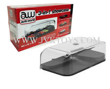 Auto World 3 in 1 Display Case Interchangeable Inserts 1/24 1/43 1/64 AWDC004