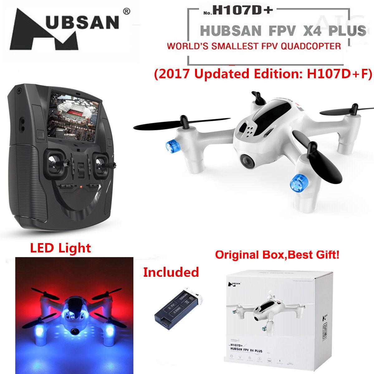 Hubsan H107D+ X4 FPV Plus 2.4G 2.4G 2.4G Mini Headless RC Quadcopter 720P HD Altitude RTF eb6bbf