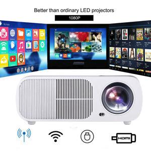 4K 1080P Android WIFI Projektor Bluetooth LED 3D Heimkino Beamer Multimedia FHD