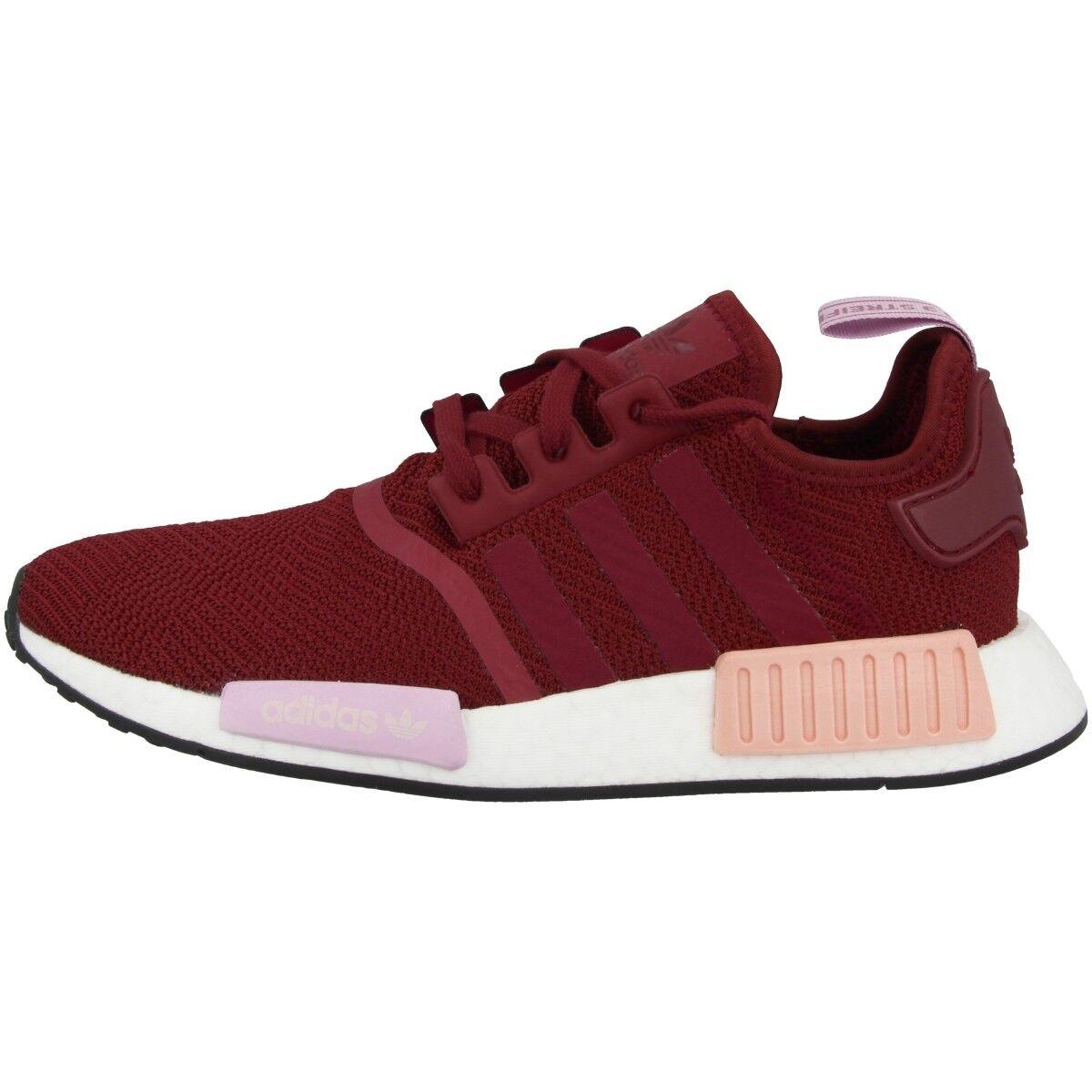 Adidas NMD_R1 damen Schuhe Damen Originals Turnschuhe burgundy clear Orange B37646