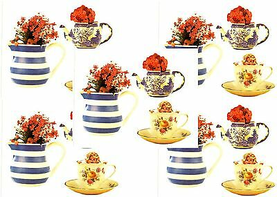 Anne Geddes BABY TEA CUPS Pots Scrapbook Stickers 5 Sheets