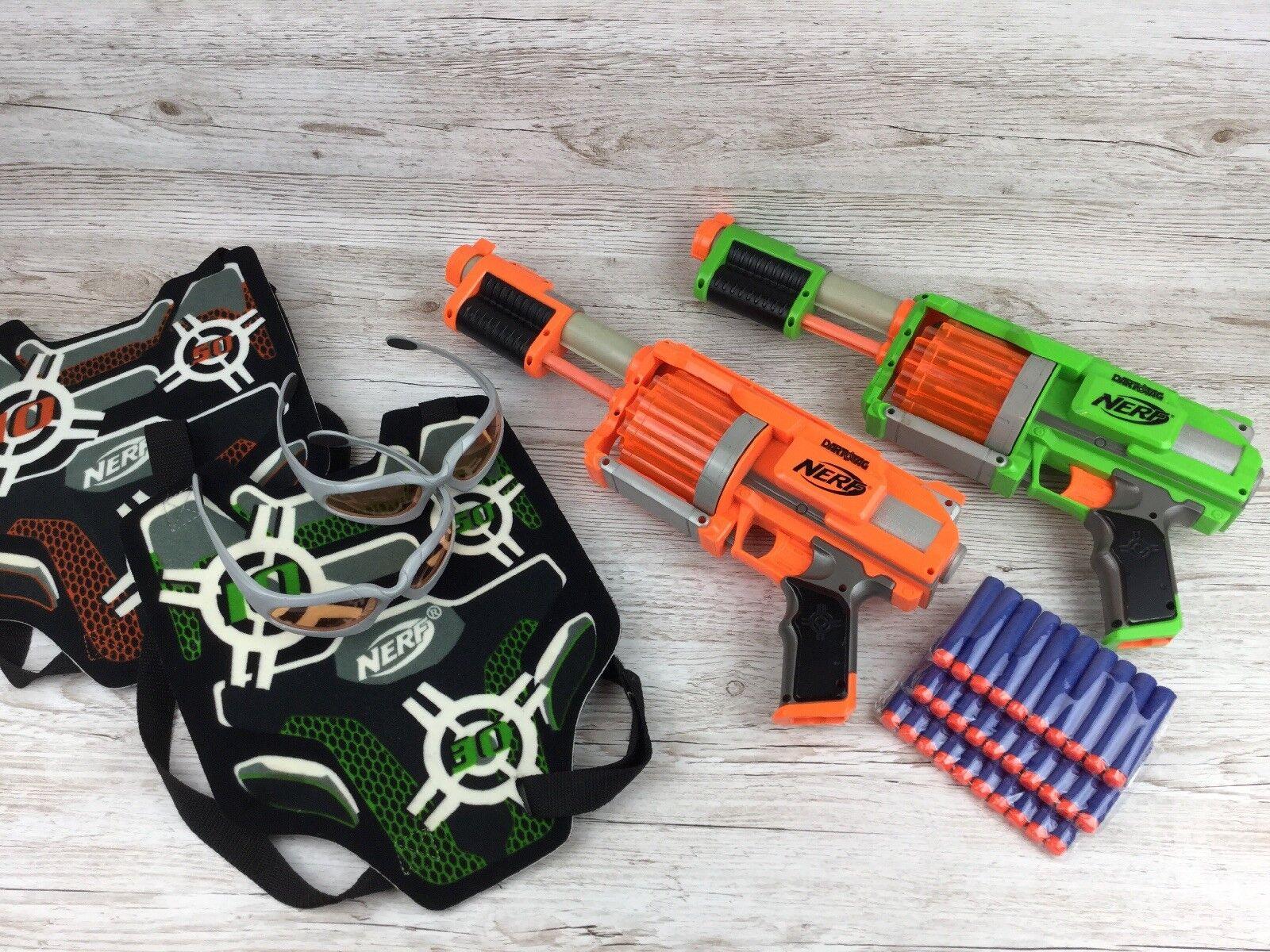 Nerf Dart Tag Playset  2x FuryFire (Green + orange) + 2x Vest Glasses + Ammo(1)
