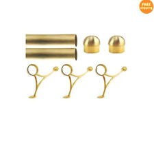 8 FT.  BRUSHED BRASS BAR FOOT RAIL KIT FOR HOME BAR-BRASS TUBE RAILING