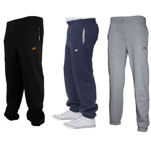 Nike-3D-Logo-Mens-Fleece-Joggers-Tracksuit-Bottom-Gym-Running-Jogging-Sweatpants
