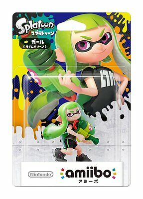 NEW Nintendo 3DS Wii U Amiibo Inkling Girl Lime Green Splatoon Japan Import F/S