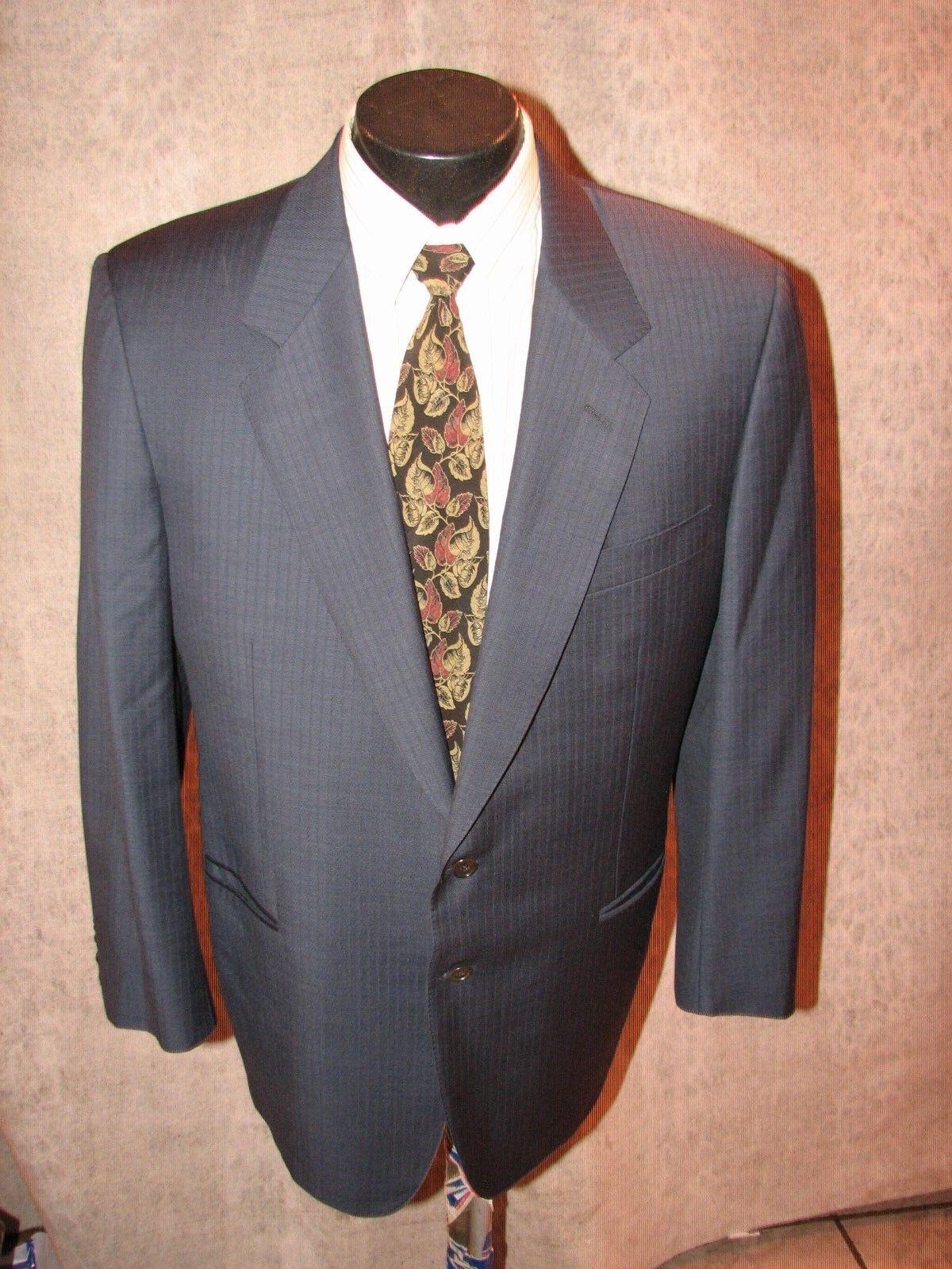28a81b544 Canali Men Brown Pinstripe Wool 3 Butt S B Suit R 42 otoskt9112 ...