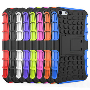 Hybrid-Rugged-Rubber-Hard-Shockproof-Case-Cover-Skin-for-Apple-iPhone-SE-5-5S