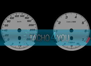 Tachoscheibe-fuer-BMW-3er-E90-amp-5er-E60-Benziner-260-kmh-km-h-M3-M5-526705-Grau
