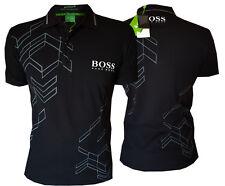 Men's Hugo Boss Green Label Black Polo T- Shirt, Size: S, M, L, XL, 2XL