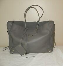 $1995.00 Authentic BALENCIAGA Papier A4 Gray Leather Tote Handbag Shoulder Bag