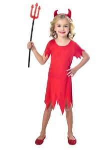 Details about Halloween Red Devil Toddler Girls Fancy Dress Outfit Party  Costume Age 3,4 Years