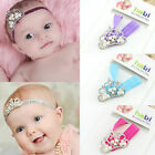 Newborn Girl Baby Pearl Rhinestone Crown Headband Princess Hair Accessories Gift