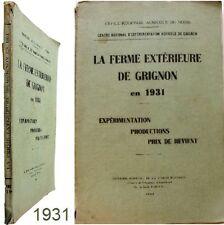Grignon La ferme extérieure en 1931 expérimentation agricole agriculture céréale