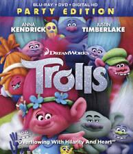 Trolls (Blu-ray Disc, 2017, 2-Disc Set, Includes Digital Copy)