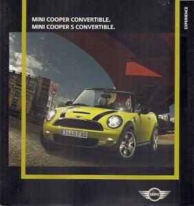Mini Convertible 2009 Uk Market Sales Brochure Cooper Cooper S Ebay