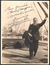 Maurice Chevalier. Photographie dédicacée. Vers 1930. Collection Berger