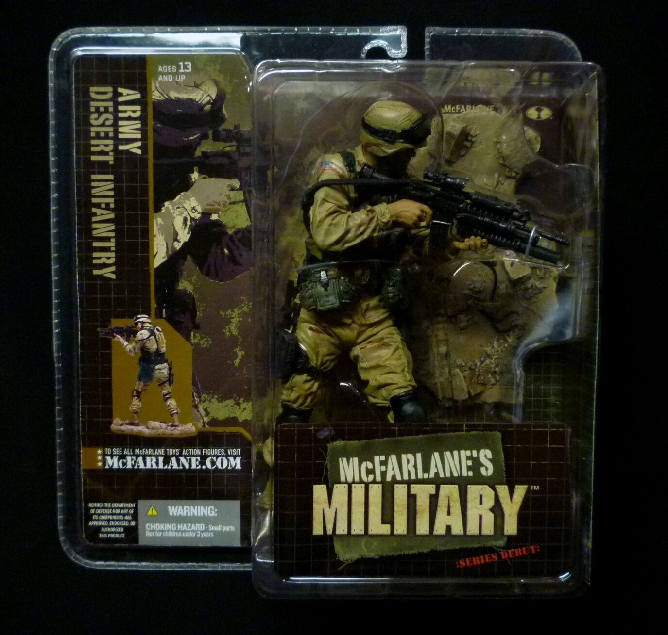 McFarlane Military Series 1 Army Desert Infantry Action Figure New 2005 .