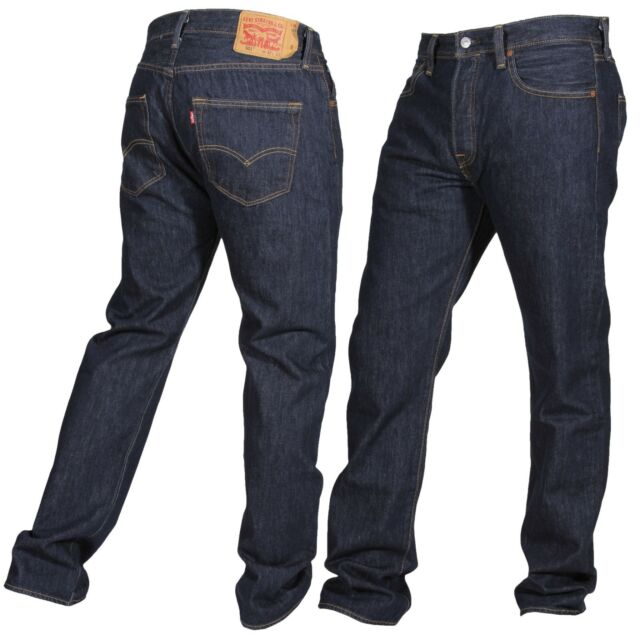 Levis 501 Jeans Original Mens Size 33 X 34 Very Dark Blue ...