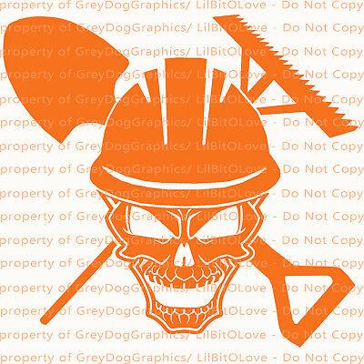 Asphalt Skull Design B Vinyl Decal Sticker Road