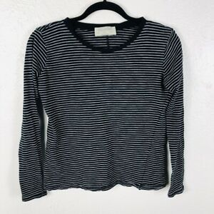 f902e1aead Zara Trafaluc TRF Size Small T Shirt Tee Black White Striped Long ...