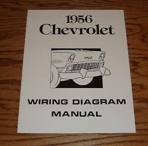 1956 Chevrolet Passenger Car Wiring Diagram Manual 56 ...