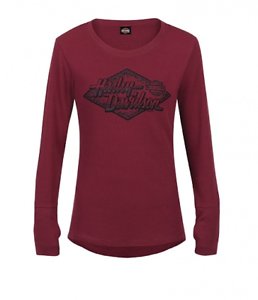 ideale Harley del shirt Tee regalo Rink T Oxford Thermal Grigio commerciante Top Davidson Aq7TZwpWw
