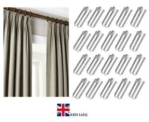 Image Is Loading Pinch Pleat Clips Galvanized Metal Curtain Tape Deep