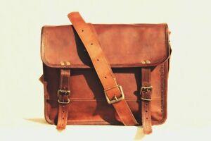 Men-039-s-New-Vintage-Art-Cuir-Messenger-Laptop-Bags-Mallette-sacoche-sac-marron