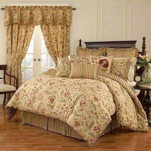 Waverly Imperial Dress 4 Piece Bedding, Waverly Bedding Set Queen