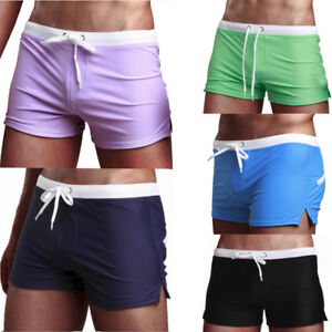 8ab30fea29 Image is loading Men-039-s-Swimsuit-Fashion-Swimming-Trunks-Briefs-